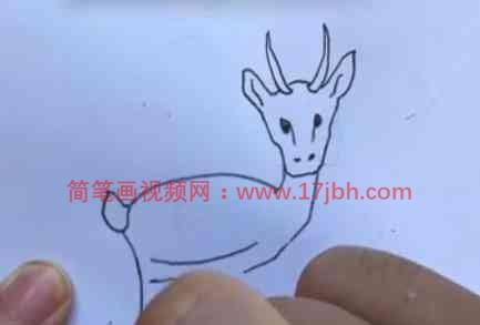 羚羊简笔画