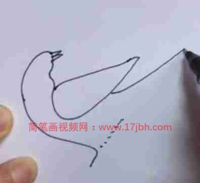 喜鹊简笔画