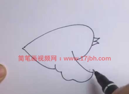 飞翔的小鸟简笔画过程