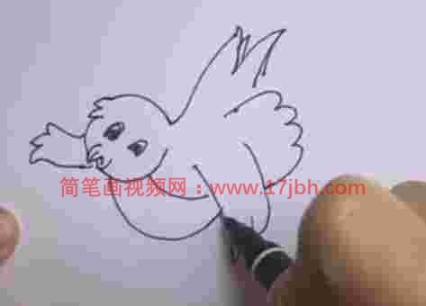 小鸟彩色简笔画图片