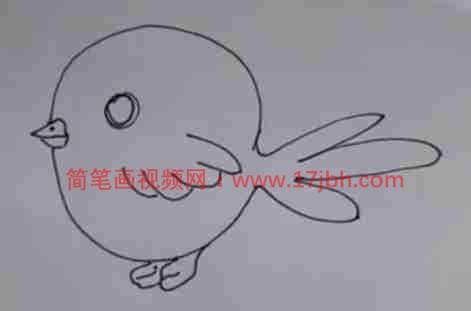 怎么画鸟的简笔画