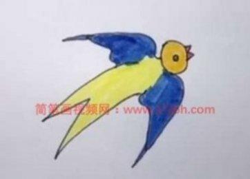 幼儿园小燕子简笔画