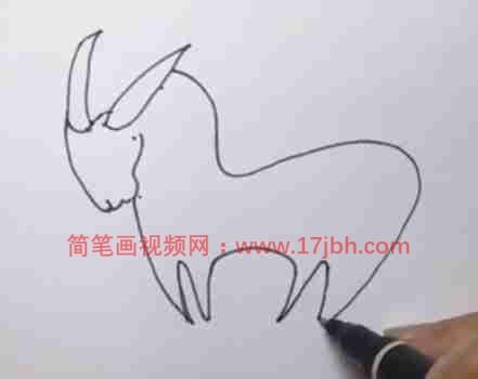 山羊简笔画彩色