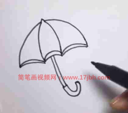 幼儿雨伞简笔画