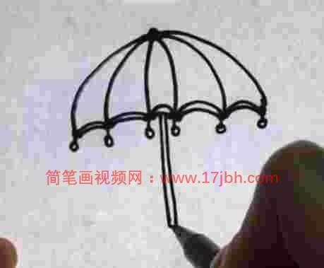 公主雨伞简笔画