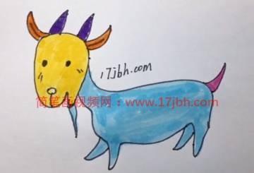 山羊简笔画