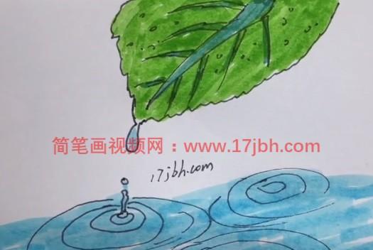 儿童树叶简笔画图片大全