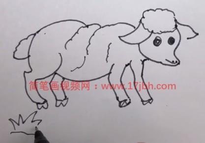 儿童画羊简笔画