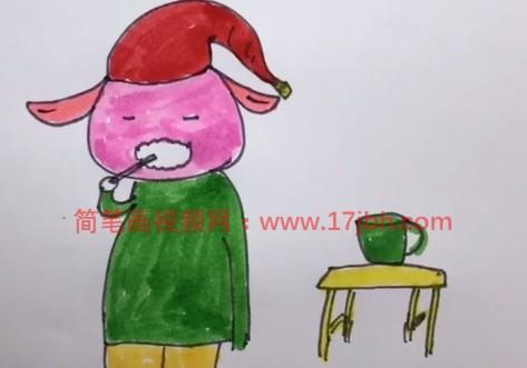 卡通羊简笔画图片