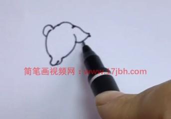 怎样画小羊的简笔画