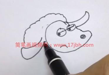 绵羊简笔画图片带颜色