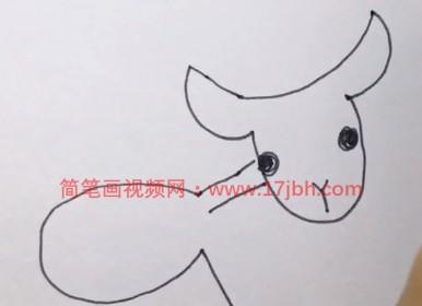 小山羊的简笔画