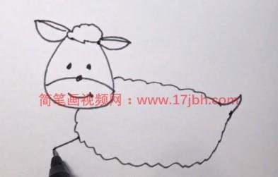 羊的画法简笔画图片