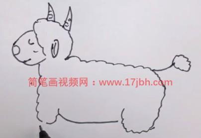 绵羊怎么画简笔画