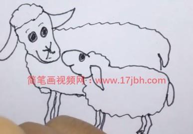 画小羊简笔画