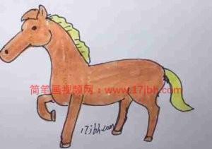 小马简笔画图片大全可爱