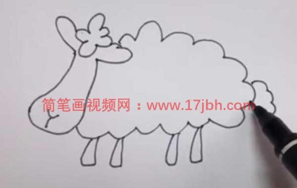 羊的简笔画可爱