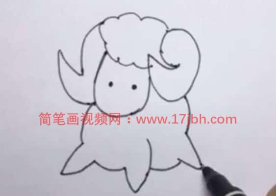 小绵羊简笔画图片