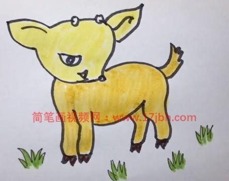 羊简笔画图片大全可爱图片