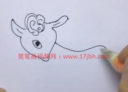 小山羊简笔画