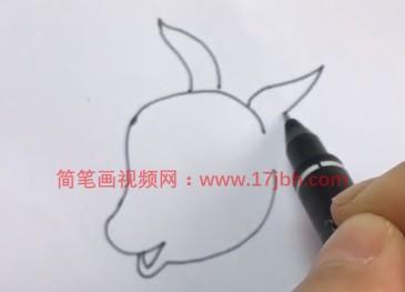 十二生肖羊简笔画