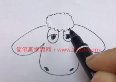 可爱小绵羊简笔画