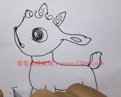 羊卡通简笔画