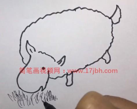 儿童简笔画绵羊