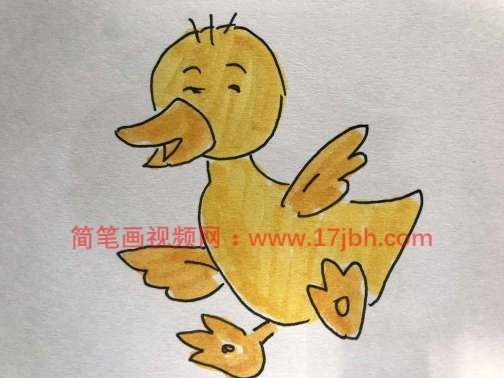 小鸭子简笔画步骤