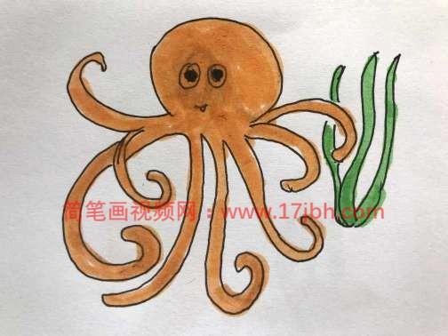 章鱼简笔画