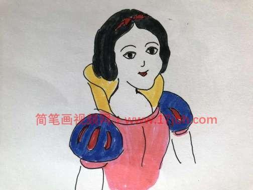 白雪公主简笔画图片大全