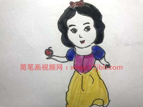 白雪公主的画法简笔画