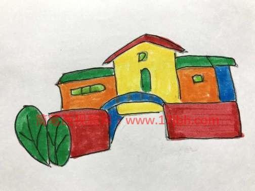 幼儿园风景简笔画