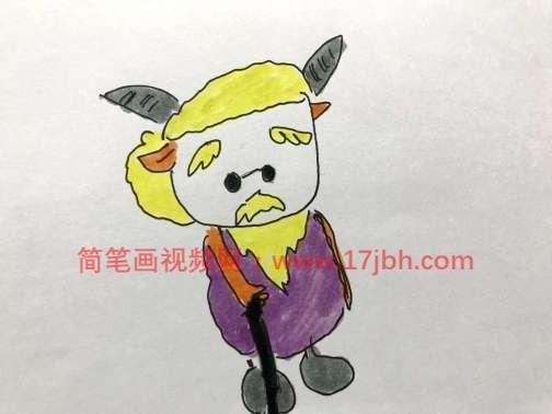 卡通羊简笔画