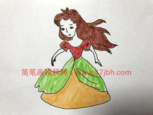 爱丽丝公主简笔画