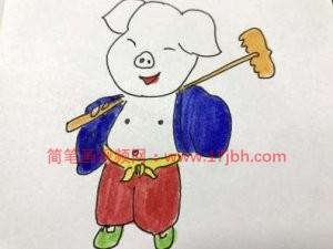 猪的简笔画图片大全可爱