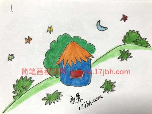 农村风景简笔画