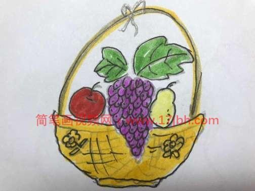 水果篮简笔画图片大全