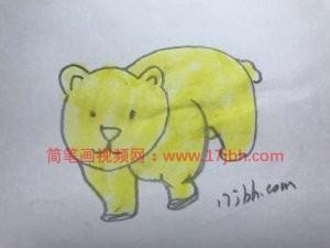 北极熊简笔画图片大全