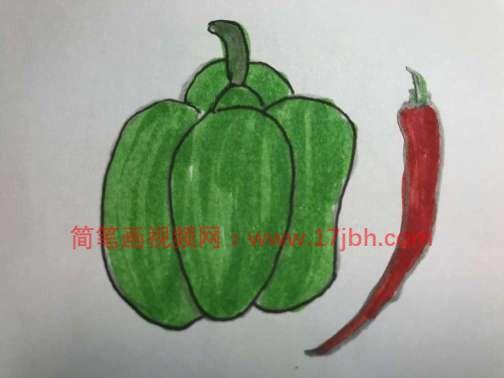 青椒怎么画简笔画