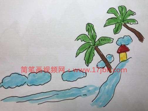 海南风景简笔画