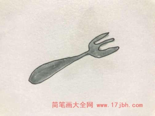 叉子简笔画