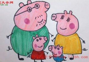 彩色小猪佩奇人物图片