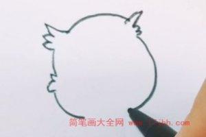 猫头鹰简笔画
