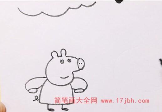小猪佩奇朋友简笔画