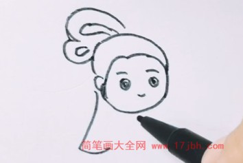嫦娥简笔画图片涂色