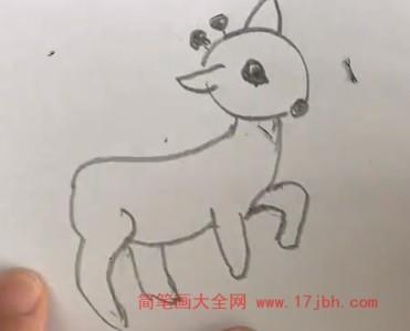 动物简笔画彩色可爱