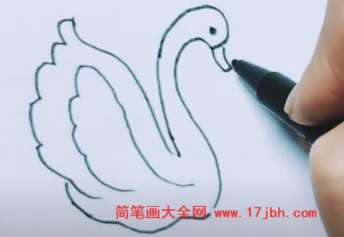 天鹅简笔画