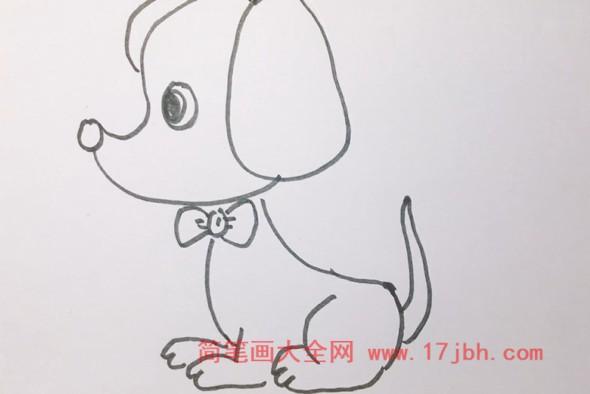 小狗简笔画教程