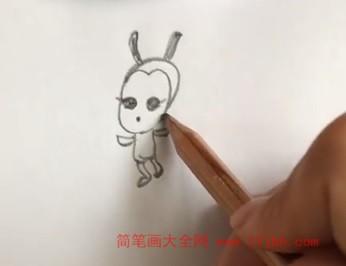 蜜蜂简笔画图片